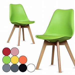 Chaise coloree for Meuble salle À manger avec chaise couleur pied bois