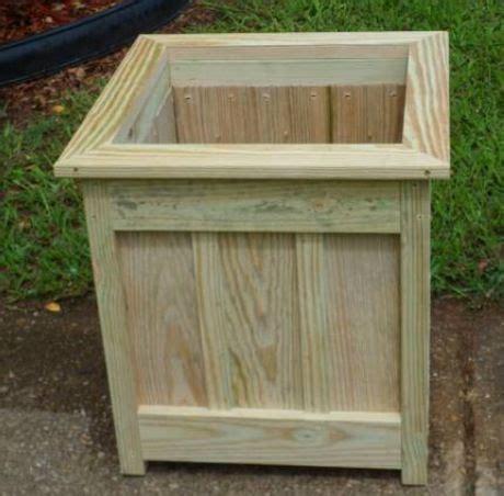 diy single planter box   pressure treated wood