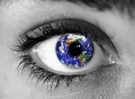 What Percent Of The World Has Hair And Blue by The Earth In The Eye Photoshop Ordinary And Or