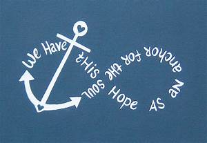 Canvas Painting Anchor Infinity We Have This Hope
