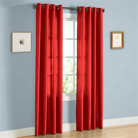 108 Curtains And Drapes - 2 panel window faux silk 8 grommet curtain drapes 108
