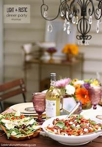 Light, U0026, Rustic, Dinner, Party, Menu