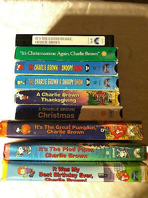 vhs lot charlie brown peanuts thanksgiving christmas