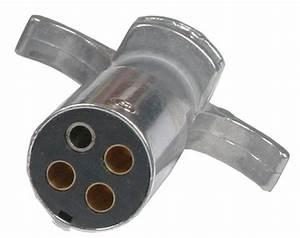 4-way Round Metal Trailer Wiring Connector