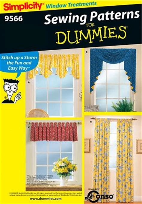 Sewing Patterns For Drapes - simplicity window treatment covering home d 233 cor curtains