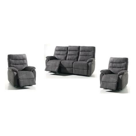 canapé fauteuil relax salon 3 1 1 cameo avec relax electrique conforluxe