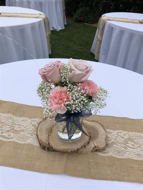 Wedding centerpiece Carnation wedding centerpieces Rose