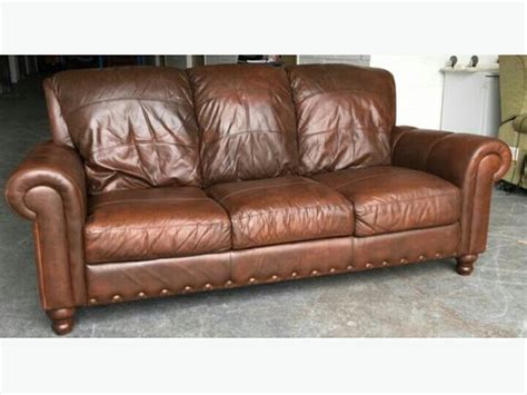 Distressed Leather Sofa Brown by 163 1500 Thick Heavy Distressed Aniline Brown Leather Sofa
