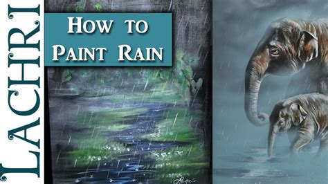 How To Paint Rain And Fog  Acrylic Painting Tips And