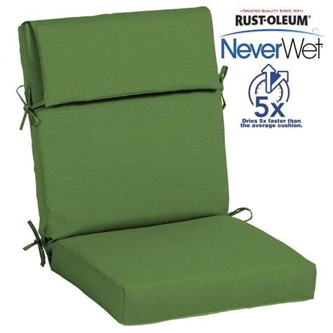 lowes patio cushions shop allen roth neverwet 1 high back patio chair