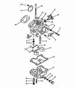 Mariner 75 Hp  4 Cylinder  Carburetor Assembly Parts