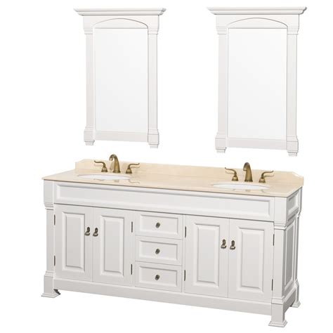 72 quot andover traditional bathroom double vanity set by