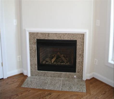 image of tile fireplace surround corner fireplace for the home builder