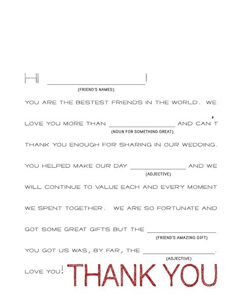 Thank You Note Template Wedding Thank You Note Template 2018 World Of Reference
