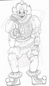 Pennywise Coloring Page It Creepy Clown