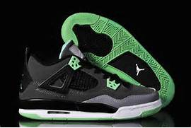 shoes black green ...