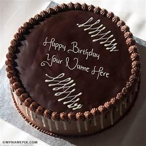 Yummy Chocolate Birthday Cake With Name