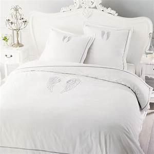 Maison Du Monde Housse De Couette : parure de lit 220 x 240 cm en coton blanche ange maisons du monde ~ Teatrodelosmanantiales.com Idées de Décoration