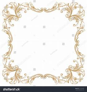 Premium Gold Vintage Baroque Frame Scroll Stock Vector ...