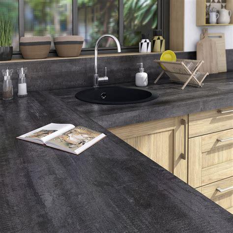plan de travail stratifi 233 vintage wood noir mat l 315 x p