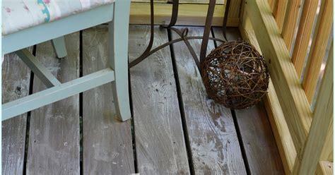 white washing distressing porch floor hometalk