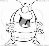 Pillbug Pillbox Thoman Outlined Bug sketch template