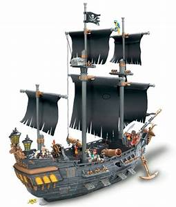 Mega Bloks Pirates of the Caribbean 3 Deluxe Ship -Black ...