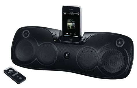 portable speakers for iphone logitech announces rechargeable speaker s715i iphone ipod dock