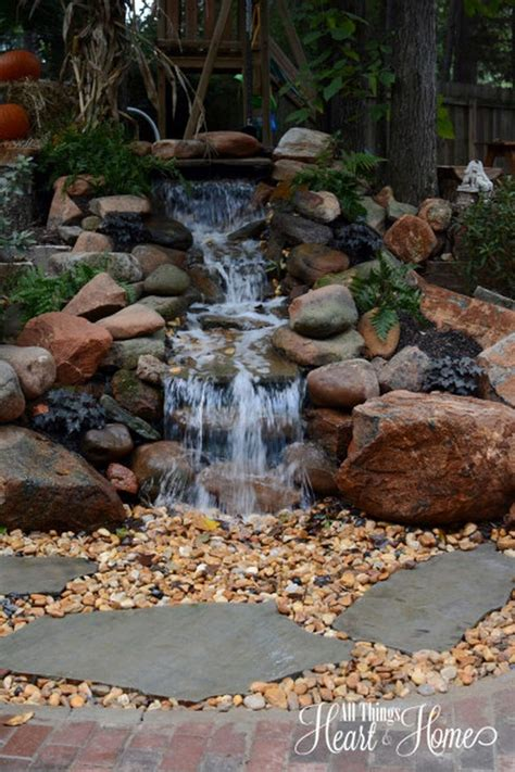 best 25 pond waterfall ideas only on diy