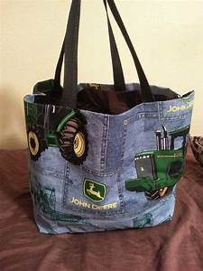 DIY Blue Jean John Deere tote bag | DIY No Sew Tote Bags | Pinterest