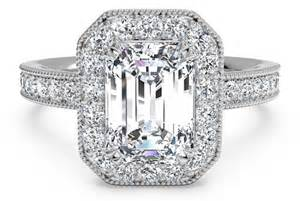 emerald cut engagement rings with halo 4 vintage inspired emerald cut engagement rings ritani