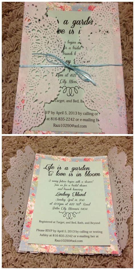 bridal shower invitation vintage garden theme
