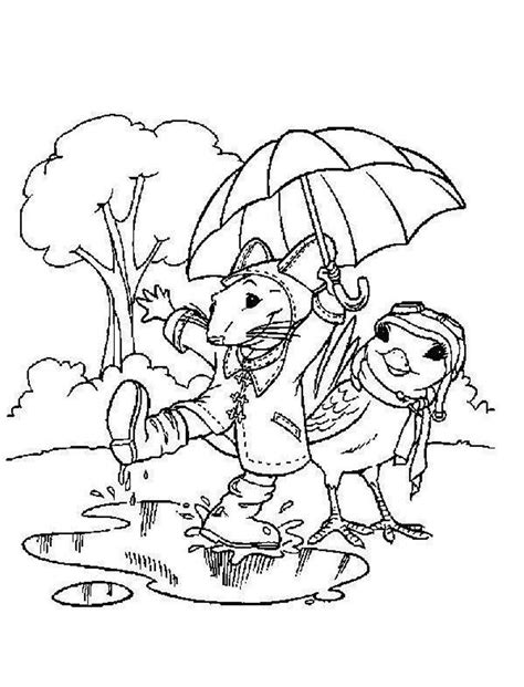rainy day coloring pages to and print for free