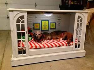 17 originales camas para perro que tu puedes hacer for Dog beds that look like furniture