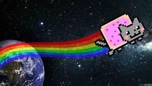 Nyan Cat HD Wallpaper by PixelFXofficial on DeviantArt