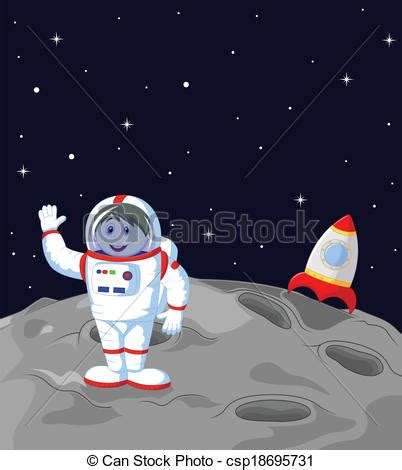 astronaut on moon clipart vectors of astronaut landing on the mo vector