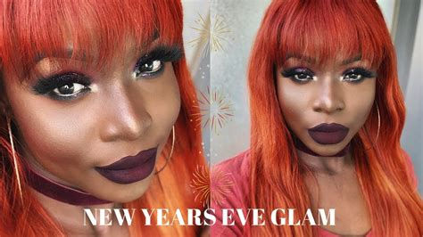 years eve glam makeup tutorial glitter smokey eye