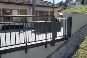 Garde Corps Terrasse Aluminium : garde corps terrasse et garde corps aluminium ~ Melissatoandfro.com Idées de Décoration