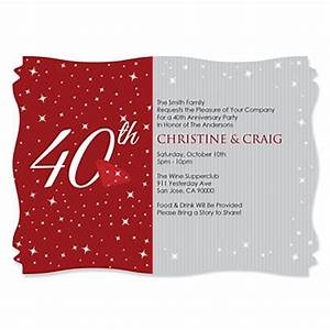 40th anniversary personalized wedding anniversary for 40th wedding anniversary invitations