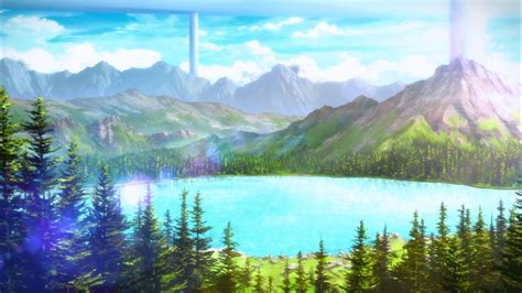 anime sword art  mountain trees wallpapers hd