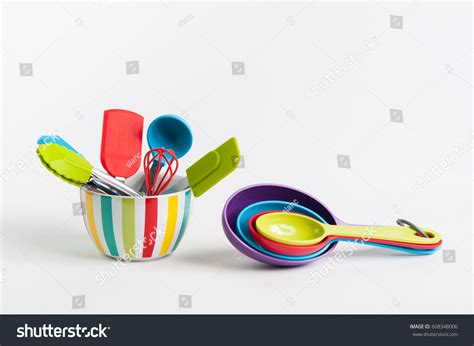 colorful kitchen utensils bright colorful kitchen baking utensils stock photo 2356