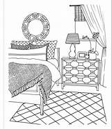 Coloring Decorate Empty Colouring Rooms Adult Creative Drawing Sheets Template Cartoon Dream Inspired Spaces Dining Templates sketch template