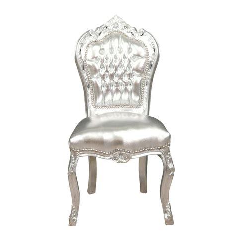 chaise baroque argent 233 e chaises baroque pas cher