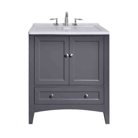 Utility Sink by Stufurhome 30 5 Quot Laundry Utility Sink Vanity Gray Free