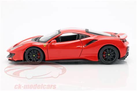 Made of diecast with some plastic parts. Bburago 1:24 Ferrari 488 Pista anno di costruzione 2018 rosso 18-26026 modello auto 18-26026 ...