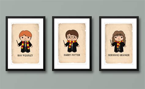 harry potter inspired wall art kids wall art harry potter