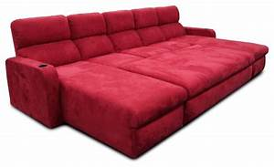 Custom designed paradise valley home theater seating for Theater sofa bed