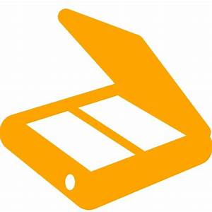 Free orange scanner icon - Download orange scanner icon