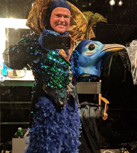 donny osmond reveals  peacock sculpture  fans gifted