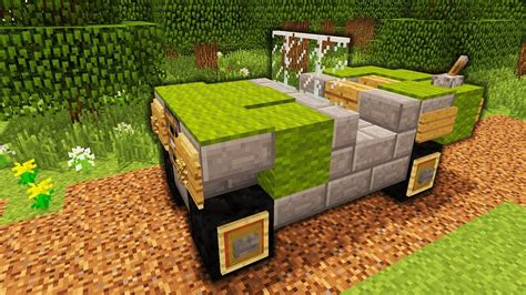 minecraft army jeep minecraft how to make an army jeep tutorial youtube